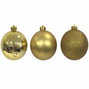 Bola Arvore de Natal 6cm Tubo com 9 Bolas Fosca / Lisa / Gliter