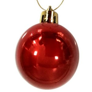 Bola Arvore Natal 5 Cm Tudo 12 Bolas Lisa / Perolada