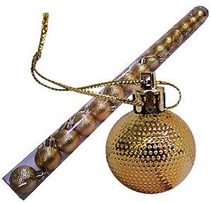 Bola Arvore Natal 3 Cm Tubo 15 Bolas Dourada