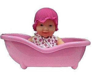 Boneca Mini Miudinhas 16 Cm Com Banheirinha - 113444