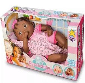 Boneca Nenenzinha Negra Divertoys New