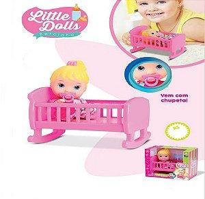 Boneca Little Dolls Bercinho c/ Chupeta 20 Cm - 127707