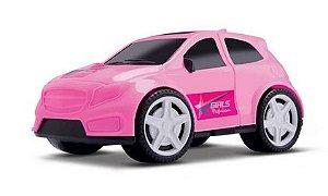 Carrinho Rosa Samba Cars Girl Fashion 15 Cm - 122191
