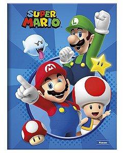 Kit 5 Cadernos Brochurão Super Mario 96 fls. New