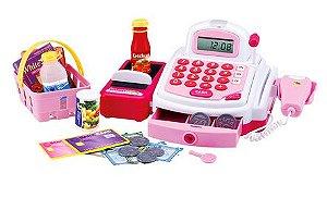 Brinquedo Caixa Registradora Plastico Luz Som Acessorios New