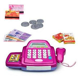 Brinquedo Caixa Registradora com Carrinhos de Compras New