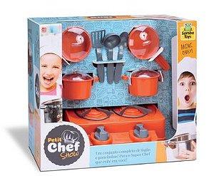 Petit Mini Chef Show 8 Peças Fogão Panelinha - 127173