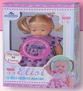 Boneca Elisi 30 cm Cabelo Fala 30 Frases New