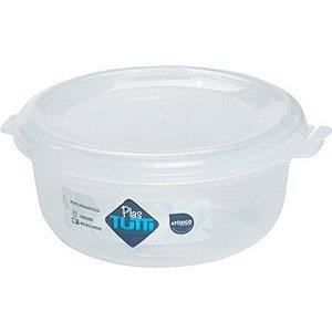 Kit C/3 Pote Tropical Redondo Transparente New