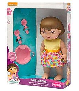 Boneca Dora Papinha Com Acessórios New
