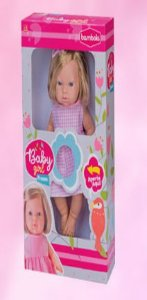 Boneca Baby Girl Frases 34cm New