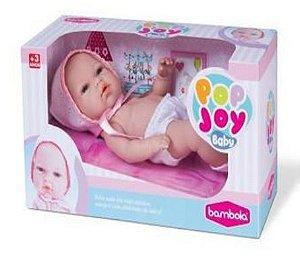 Boneca Pop Joy Baby 33cm com Cheirinho Talco New