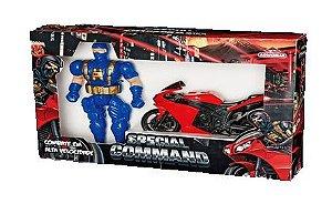 Brinquedo Special Command C/Boneco e Moto New