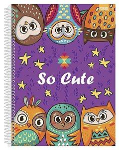 Caderno Universitário So Cute 3 - 96 Fls. New