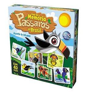 Brinquedo Jogo da memoria Pássaros do Brasil New