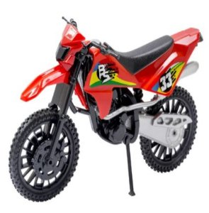 Brinquedo Moto Trilha Color 25cm New