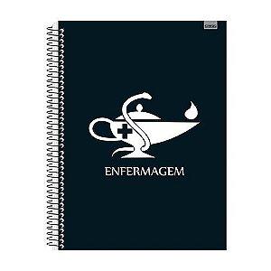 Kit 4 Cadernos Enfermagem 96 folhas Capa Dura - 128250