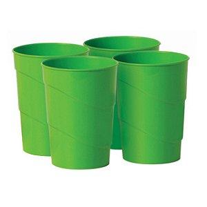 Kit c/ 4 Copo Plástico 350 ml Resistente - 8931