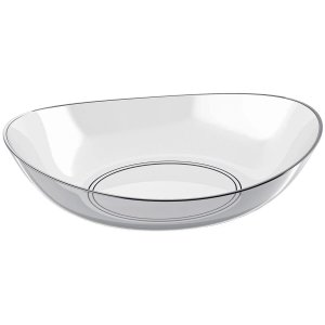Saladeira Oval Transparente 4LTS New