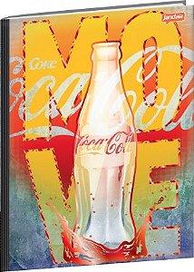 Kit 5 Cadernos Universitário Coca Cola 96 Folhas Capa Dura
