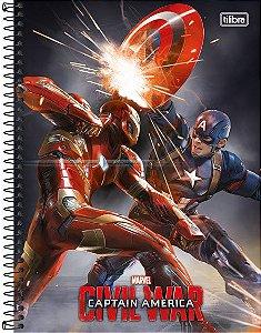 Caderno Universitário Avengers Civil 4 -  200 fls. 10X1 New
