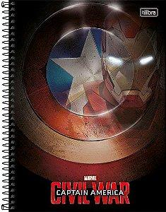 Caderno Universitário Avengers Civil 3 -  200 fls. 10X1 New