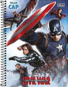 Caderno Universitário Avengers Civil 2 200 fls. 10X1 New