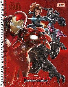 Caderno Universitário Avengers Civil 1 200 fls. 10X1 New