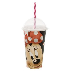 Copo Shake C/ Canudo Minnie New