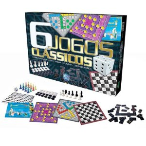 6 Jogos Clássicos Xadrez Dama Ludo Trilha Dominó Forca 22834