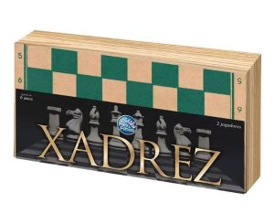 Jogo Xadrez Madeira New