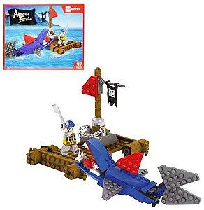 Brinquedo Brinquedo Blocks Ataque pirata P/Montar 97/PCS New