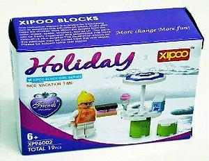 Brinquedo Bloco P/Montar Holiday c/19 Pçs New