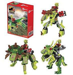 Brinquedo Blocks Dino Ataque P/Montar 80/PCS New