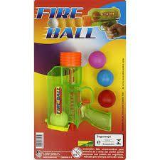 Brinquedo Pistola Fire Boll C/3 Bolas New