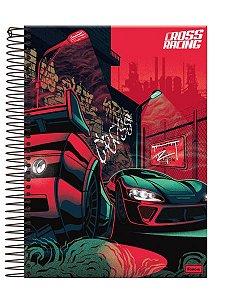 Kit 4 Cadernos Universitário Cross Racing New