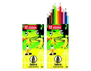 Lápis de Cor Natureza 12 cores Labra New