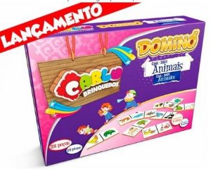 Dominó Animais 28 Peças Jogo Educacional - 120924
