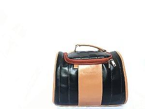 Bolsa Térmica Mini Carol - Preto com Caramelo