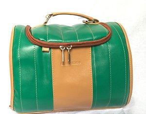 Bolsa Térmica Mini Carol - Verde com Caramelo