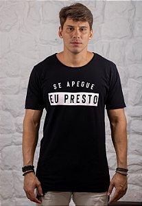 Camiseta Gola Tradicional a Fio Preta Apego