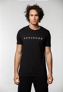 Camiseta Tradicional Preta Attitude