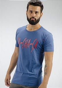 Camiseta Gola Tradicional Marinho Cachaça