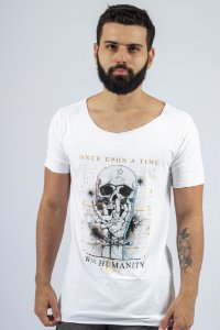 Camiseta Gola Canoa Branca Once Upon a Time