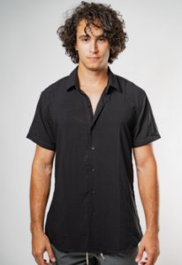 Camisa de Botão Preta Essence