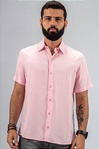 Camisa de Botão Rosa Essence