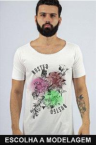 Camiseta Branca Skull Color