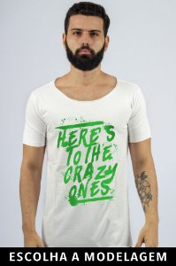 Camiseta Branca Crazy Ones