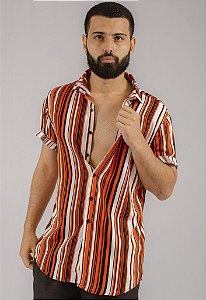 Camisa de Botão Estampa Casual Calamans