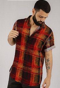 Camisa de Botão Estampa DGT Geo